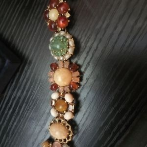 Semi Precious stone cluster bracelet